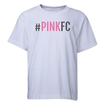 Pink FC Youth T-Shirt (White)