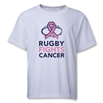 Rugby Fights Cancer Youth T-Shirt (White)
