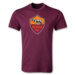 AS Roma Crest Youth T-Shirt (Maroon)