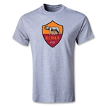 AS Roma Crest Youth T-Shirt (Gray)