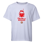 FC Santa Claus Fear the Beard Youth T-Shirt (White)