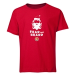 FC Santa Claus Fear the Beard Youth T-Shirt (Red)