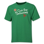 FC Santa Claus Don't Stop Believing Youth T-Shirt (Green)