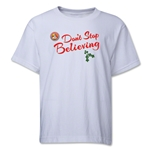FC Santa Claus Don't Stop Believing Youth T-Shirt (White)