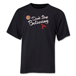 FC Santa Claus Don't Stop Believing Youth T-Shirt (Black)