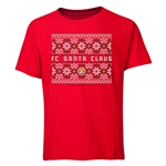 FC Santa Claus Christmas Sweater Youth T-Shirt (Red)