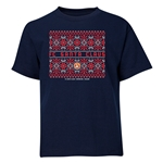 FC Santa Claus Christmas Sweater Youth T-Shirt (Navy)