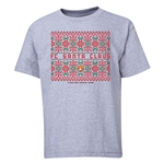 FC Santa Claus Christmas Sweater Youth T-Shirt (Grey)