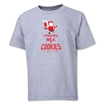 FC Santa Claus Milk and Cookies Youth T-Shirt (Grey)