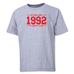 FC Santa Claus Established 1992 Youth T-Shirt (Grey)