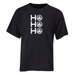 FC Santa Claus Ho, Ho, Ho Youth T-Shirt (Black)