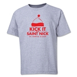 FC Santa Claus Kick with St. Nick Youth T-Shirt (Grey)