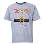 FC Santa Claus Santa's Little Helper Youth T-Shirt (Grey)