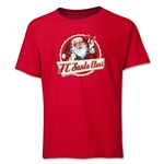 FC Santa Claus Animated Santa Youth T-Shirt (Red)