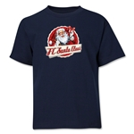 FC Santa Claus Animated Santa Youth T-Shirt (Navy)