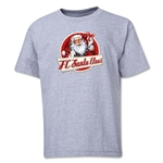 FC Santa Claus Animated Santa Youth T-Shirt (Grey)
