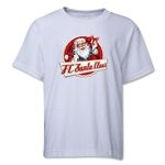 FC Santa Claus Animated Santa Youth T-Shirt (White)