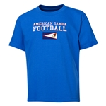 American Samoa Youth Football T-Shirt (Royal)