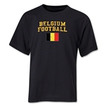 Belgium Youth Football T-Shirt (Black)