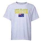 Cook Islands Youth Soccer T-Shirt (White)