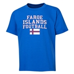 Faroe Islands Youth Football T-Shirt (Royal)