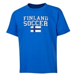 Finland Youth Soccer T-Shirt (Royal)