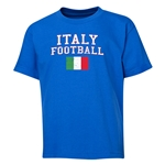 Italy Youth Football T-Shirt (Royal)