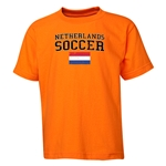 Netherlands Youth Soccer T-Shirt (Orange)