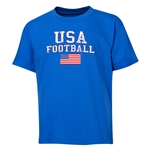 USA Youth Football T-Shirt (Royal)