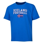 Iceland Youth Football T-Shirt (Royal)
