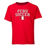 Peru Youth Soccer T-Shirt (Red)
