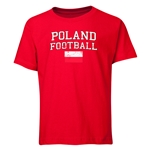 Poland Youth Football T-Shirt (Red)