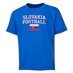 Slovakia Youth Football T-Shirt (Royal)
