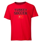 Turkey Youth Soccer T-Shirt (Red)