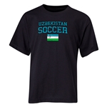 Uzbekistan Youth Soccer T-Shirt (Black)