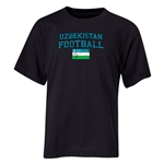Uzbekistan Youth Football T-Shirt (Black)