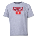 Tunisia Youth Football T-Shirt (Grey)