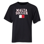 Malta Youth Soccer T-Shirt (Black)
