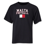Malta Youth Football T-Shirt (Black)