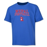 Nepal Youth Football T-Shirt (Royal)