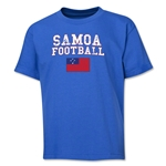Samoa Youth Football T-Shirt (Royal)