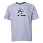 Sharks Youth Rugby T-Shirt (Grey)
