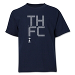 Tottenham Pixel Graphic Youth T-Shirt (Navy)