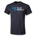 Game On, Play Rugby Youth T-Shirt (Black)