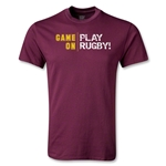Game On, Play Rugby Youth T-Shirt (Maroon)