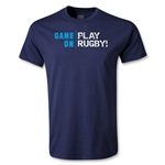 Game On, Play Rugby Youth T-Shirt (Navy)