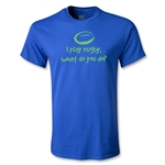 I Play Rugby Youth T-Shirt (Royal)
