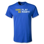 Game On, Play Rugby Youth T-Shirt (Royal)