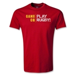Game On, Play Rugby Youth T-Shirt (Red)