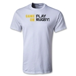 Game On, Play Rugby Youth T-Shirt (White)